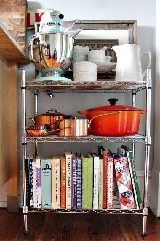 kitchen, storage, shelves