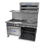Bakers Pride Bakers Pride 72-BP-4B-G48-S30 Restaurant Series Range