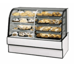 Federal Industries Federal Industries CGR7742DZ Curved Glass Vertical Dual Zone Bakery Case Refrigerated Left Non-Refrigerated Right