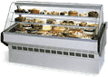 Federal Industries Federal Industries SQ-4CB Market Series Bakery Case Refrigerated Bottom Display Deck Non-Refrigerated Glass Shelves