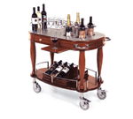 Lakeside Manufacturing 70038 Wine Cart-Bordeaux